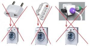 Как нельзя подключать стиральную машинку